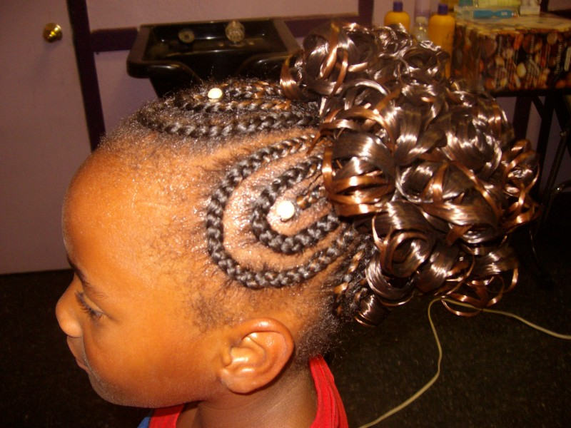 Cornrows W Attachable Ponytail Braids And Weaves By Cathy