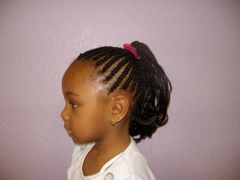 Cornrow Ponytail using Toyokalon hair - Braids and Weaves by Cathy